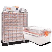 System klatek indywidualnie wentylowanych BCU-2™ do laboratoriów klasy BSL3